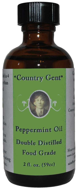 Peppermint Oil, Double Distilled - Food Grade 2 Oz.