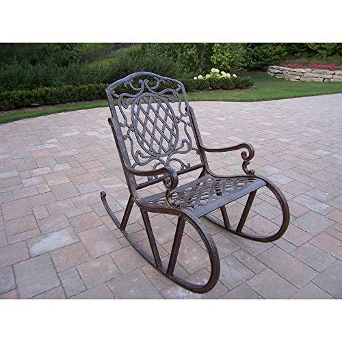 Oakland Living Corporation Dakota Cast Aluminum High Back Rocking Chair