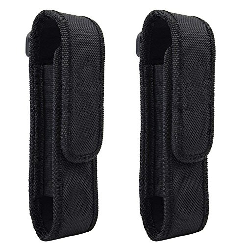 (2 Pcs Flashlight Holster Pouch Holder Flash Light Belt Pouch Carry Case for 5