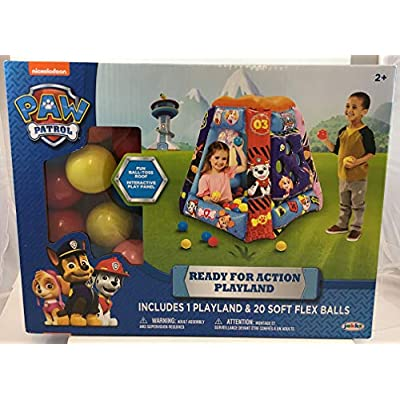 Paw Patrol Neutral Ball Pit, 1 Inflatable + 20 Sof-Flex Balls: Toys & Games