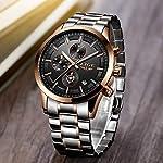 LIGE Montres Hommes Sports Militaires Étanche en Acier Inoxydable Montre-Bracelet Business Robe avec Date Analogique… 7