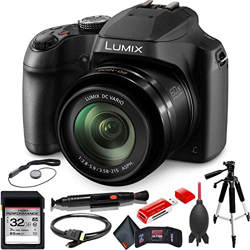 Panasonic Super Zoom Camera - Panasonic Lumix DC-FZ80 Digital Camera + Advanced Accessory Kit