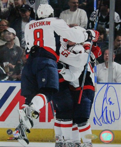 NHL Mike Green Celebration with Ovechkin Autographed 8-by-10-Inch Photograph
