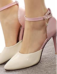 Women's Shoes Patent Leather/Stiletto Heel/D'Orsay & Two-Piece/Pointed Toe Heels Party & Evening/Dress Blue