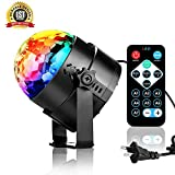 Disco Lights, Disco Ball Party Lights, LED 3W 7 Colors RGB 3 Sound Activated Modes, Perfect for Home Party, Kids Birthday Gifts, DJ Karaoke, Club Bar Wedding Holiday Dance Night Lamps.