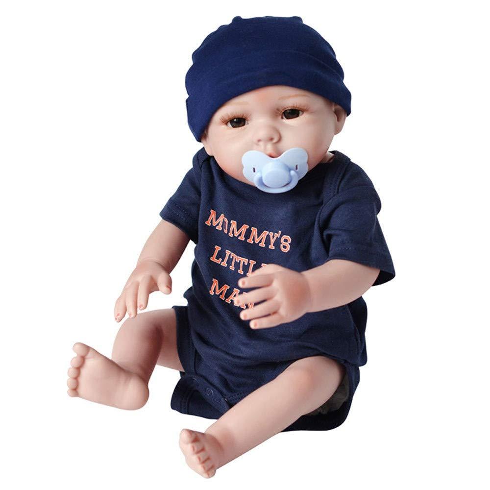 Omiky® New Born Baby Geschenk, Funktions-Baby-Puppe, Vinyl-Puppe, lebensecht, realistisch, weich, Mädchen, Jungen, Baby, Geschenkidee,55 cm