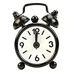 Popular Dial Number Round Desk Alarm Clock For House Decoration