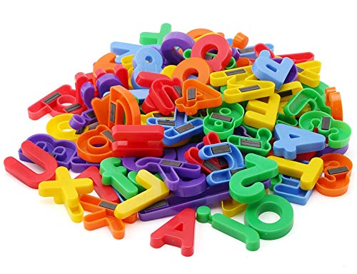 EduKid Toys ABC Magnets - 109 Magnetic Alphabet Letters & Numbers with Take Along Bucket by EduKid Toys (Image #2)