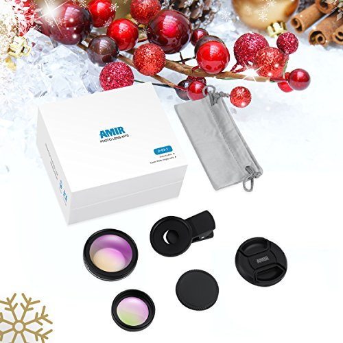 AMIR-Universal-Professional-HD-Camera-Lens-Kit-045X-Super-Wide-Angle-Lens-125X-Macro-Lens-Clip-On-Cell-Phone-Lens-for-iPhone-8-7-6s-6-Plus-5s-Samsung-Galaxy-Most-Smartphones