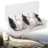 WALLER PAA 5pcs/lot Soft Rubber Artificial Crankbaits Mouse Fishing Lures Baits Mouse bait