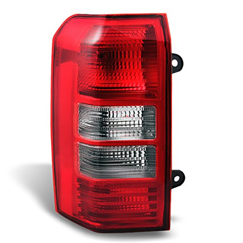 (For 2008-2017 Jeep Patriot SUV Red Clear Rear Tail Light Tail Lamp Brake Lamp Driver Left Side Replacement)