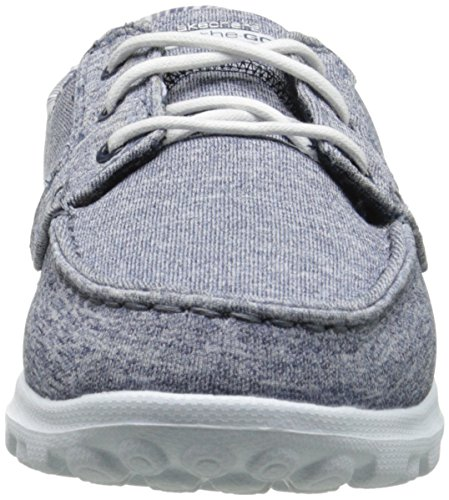 Women's On On Navy Performance Shoe Heather Boat Slip Flagship Skechers The Go 7TqHxw5U
