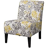Atlin Designs Bridey Accent Chair in Yellow and Gray