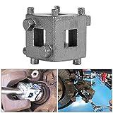 YSHtanj Brake System Brake Tool Car Rear Disc Brake Piston Retractor Tool Carbon Steel Cube Calliper Adaptor - Silver