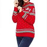 Kamendita Women's Tops Long Sleeve Women Christmas Long Sleeve O-Neck Print Long Sleeve Pullover Hooded Sweatshirt Tops