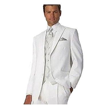 Lilis - Traje - para hombre Blanco blanco: Amazon.es: Ropa y ...