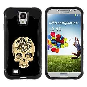 """Pulsar iFace Series Tpu silicona Carcasa Funda Case para Samsung Galaxy S4 IV I9500 , Cráneo Tiempo Negro Profundo Significado Muerte"""""""