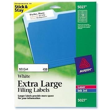 Amazon Ave5027 Avery Extra Large 13 Cut File Folder Labels