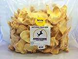 100% Awesome Dog Chews All Natural Cow Ears 50 Count - FDA / USDA Inspected Through a Registered FDA Plant