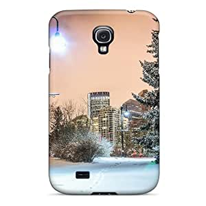 Hot QoJRzPN1391LwELx Wondrous Winter In A City Park Hdr pc Case Cover Compatible With Galaxy S4