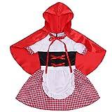 Freebily Infant Baby Girls Deluxe Little Red Riding Hood Costume Halloween Cosplay