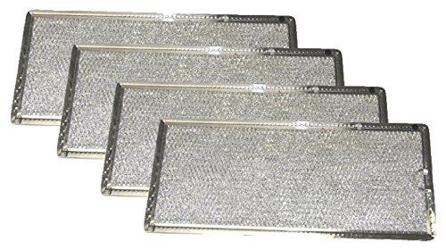 Grease Filter for GE Microwave Range Hood WB06X10596, 4 Filters (Rangehood Microwave)