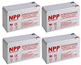 NPPower HR12V 28W High Rate SLA 12V 7.5Ah Battery F2 Style Terminals/(4pcs)