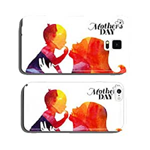 Watercolor mother silhouette with her baby. cell phone cover case iPhone6