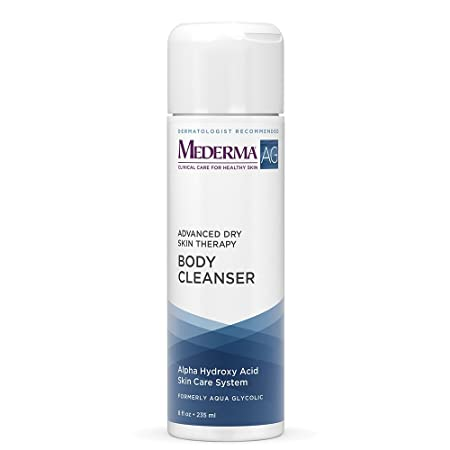 Mederma AG Moisturizing Body Cleanser moisture rich, pH-balanced, body cleanser with glycolic acid to exfoliate dermatologist recommended brand, hypoallergenic, soap-free, fragrance-free – 8 ounce