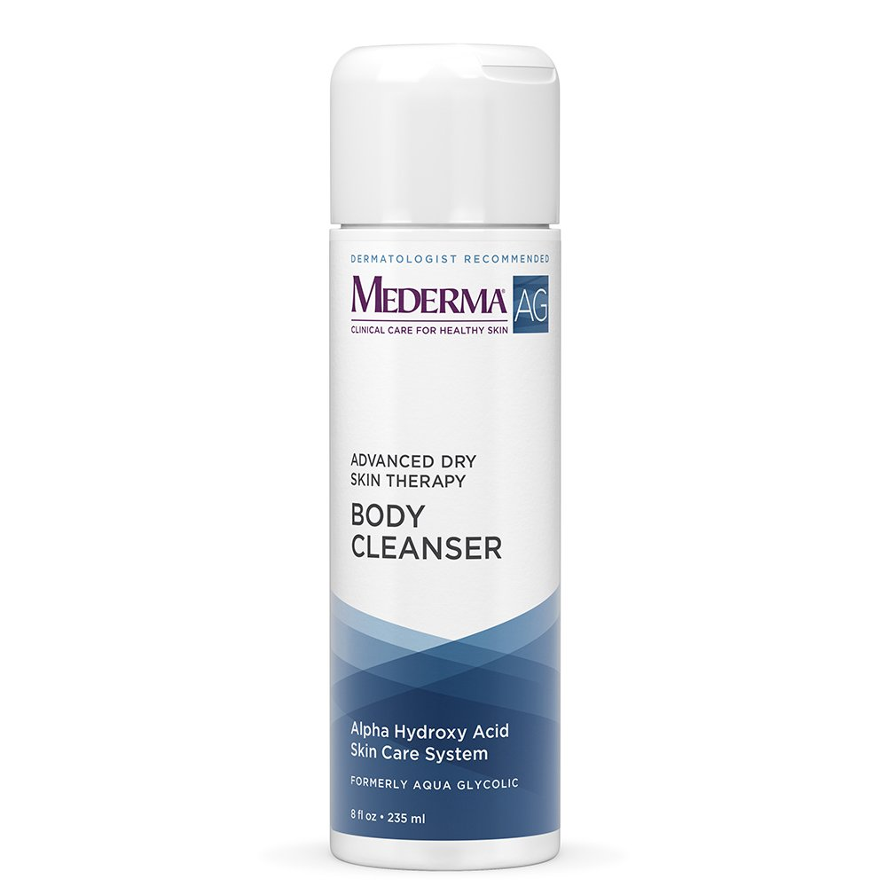 Mederma AG Moisturizing Body Cleanser – moisture rich, pH-balanced, body cleanser with glycolic acid to exfoliate – dermatologist recommended brand, hypoallergenic, soap-free, fragrance-free - 8 ounce