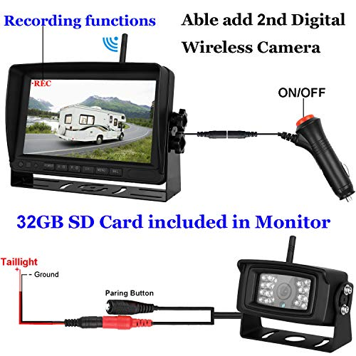 Istrong Digital Wireless Backup Camera For Rv Trailer