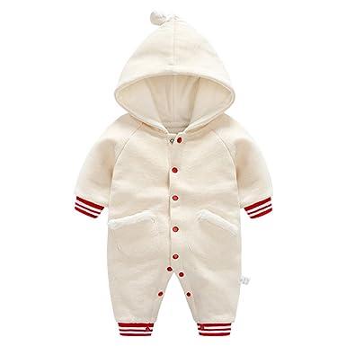 d29756f28 Amazon.com  SanReach Baby Boy Girl Winter Cotton Hooded Snow Suit ...