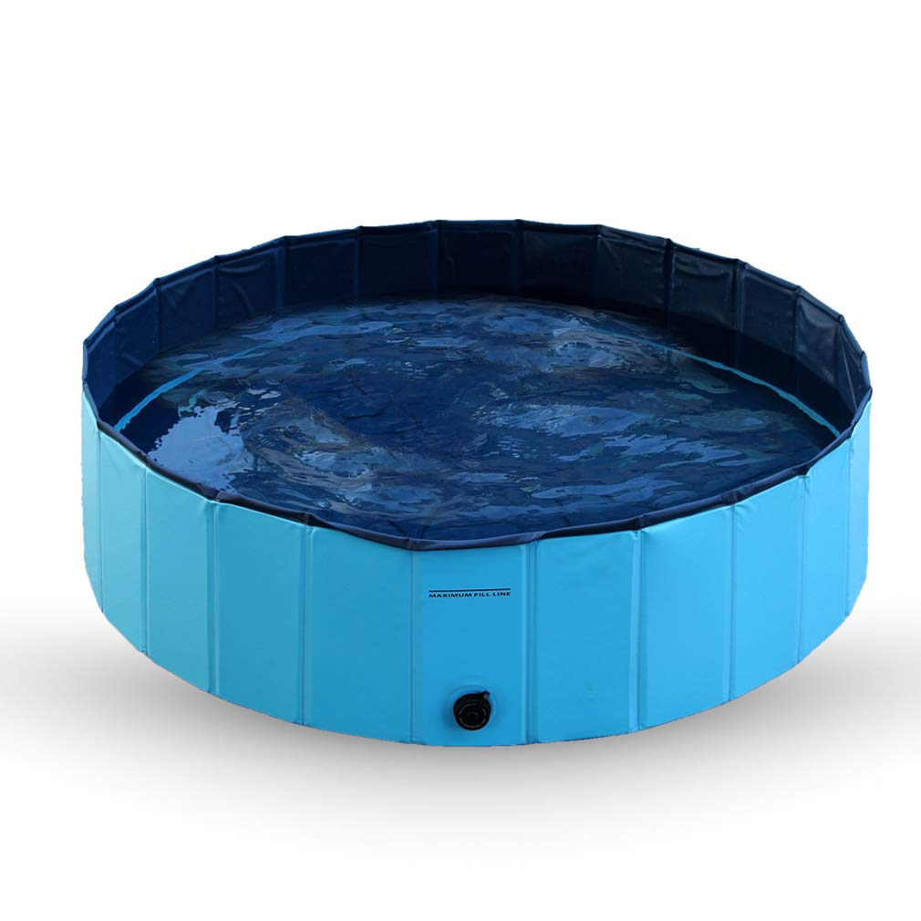 M120cm30cm Pet Swimming Foldable Bathing Tub Padding Pool Dog Cat Puppy Washer Indoor Outdoor