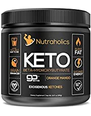 Keto Exogenous Ketones Supplement BHB Salts | Burn Fat to Increase Energy, Focus and Ketosis. Developed for Ketones and Ketogenic Diets | Patented goBHB | Keto & Vegan Certified | Orange Mango