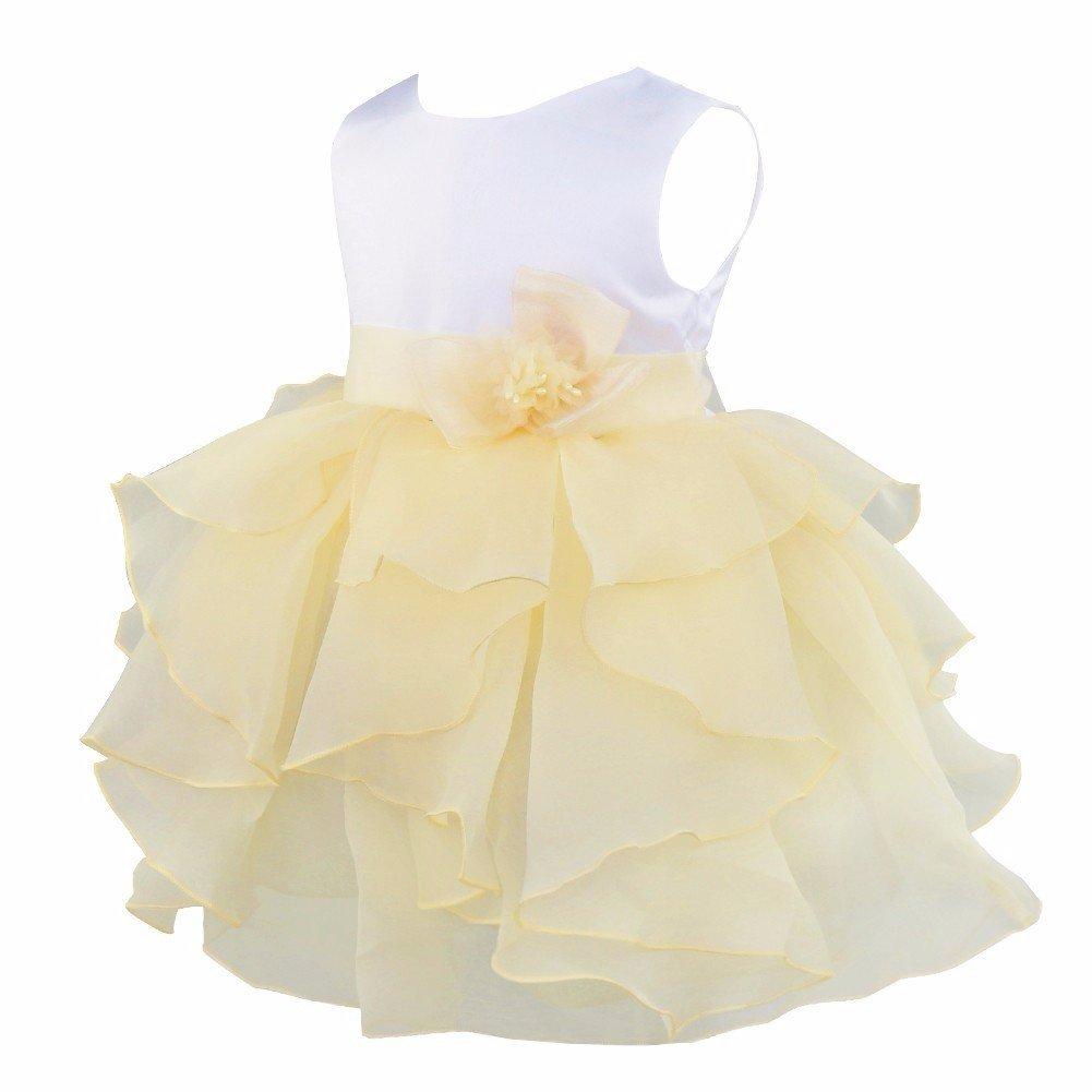 d8a331f1e Amazon.com: YiZYiF Baby Girls Flower Christening Wedding Birthday Ruffle  Organza Tutu Dress: Clothing