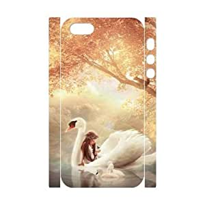 3D Bumper Plastic Customized Case Of Swan for iPhone 6 plus