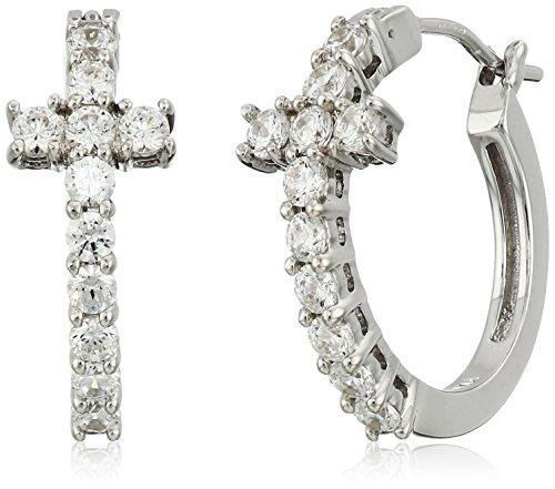 Platinum Plated Sterling Swarovski Zirconia Earrings product image