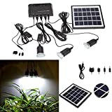 Outdoor Solar Power Panel LED Light Lamp Charger Home System Kit Garden Path US