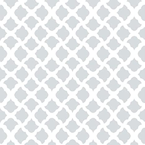 Vintage Trellis Gray Con-Tact Brand 09F-C9A7B3-12 Adhesive Creative Drawer and Shelf Liner 18x9