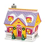 "Department 56 Disney Mickeys Merry Christmas Village ""Minnies House"" Porcelain Lighted Building #4038631"