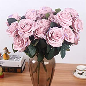 Rvbyjfg Artificial Rose Bouquet Fake Flower Daisy Wedding Decoration Party Accessories Pink 4