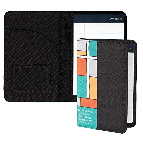 All Things Through Christ Black 9 x 6 inch Denier Polyester Portfolio Notebook Cover (Padded Clipboard)