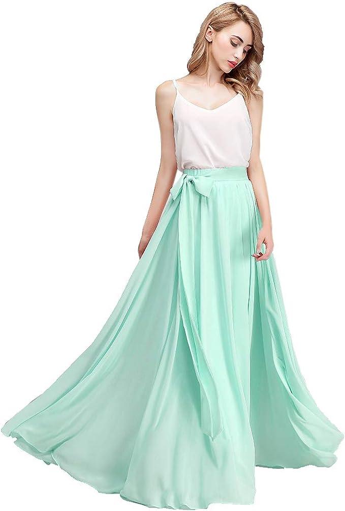 Dark Tan Bridesmaid Skirt Long Evening Skirt Dark Tan Maxi Skirt Chiffon Floor Length Skirt.
