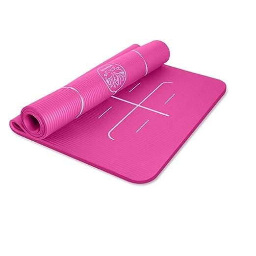 DLJFU - Esterilla de Yoga Acolchada Grande con asa de ...