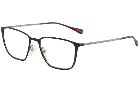 Prada PS51HV Eyeglass Frames DG01O1-52 - Topaz Black Rubber/Gunmetal ...