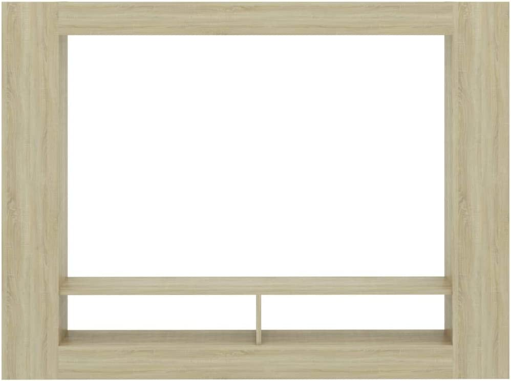 Tidyard TV Cabinet with 2 Compartments and 6 Shelves Chipboard TV Stand Living Room Entertainment Unit Sonoma Oak 152x22x113 cm Sonoma Oak