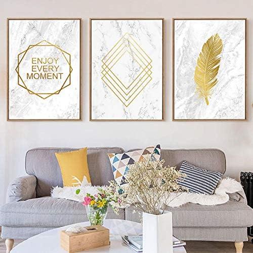 抽象キャンバス絵画羽ポスター壁アートポスタープリント家の装飾-50x70cmx3ピースフレームなし