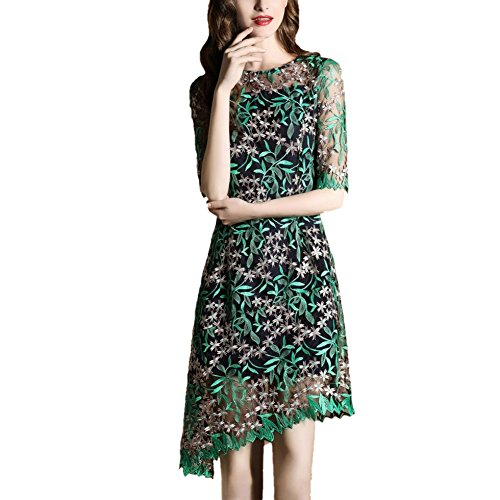 JBZYM VD79016C1 In The Waist Five Sleeves Sleeves In The Long Skirt Women Dresses - Size XXL