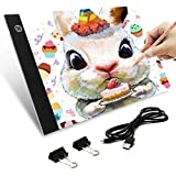 A4 Tracing Light Pad, Ultra-Thin Portable LED Light Board Tracer USB Power, LED Artcraft Tracing Light Table for 5D DIY Diamond Painting, Drawing, Sketching, Animation
