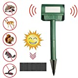 Bulary Household Solar Powered Ultrasonic Rat Repeller Snake Repellent Device Ultrasonic Farm Ground Insertion Insect Repeller